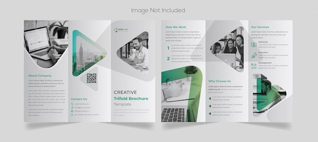 Minimal business tri-fold brochure design