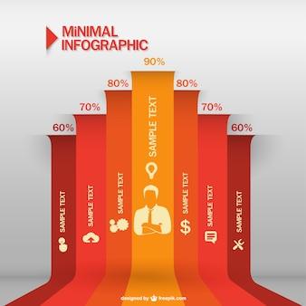 Minimal businessman label infographic