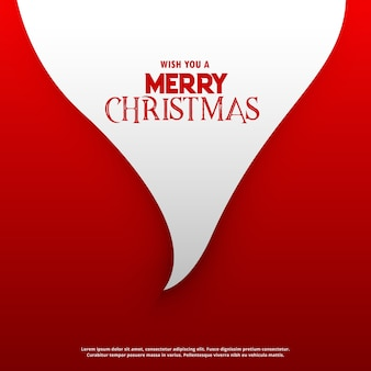 Minimal christmas background with santa claus beard