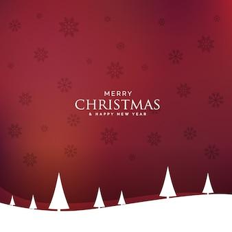 Minimal christmas landscape design design with tree
