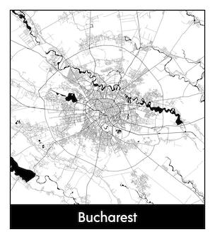 최소한의 도시 지도 부쿠레슈티(루마니아, 유럽)
