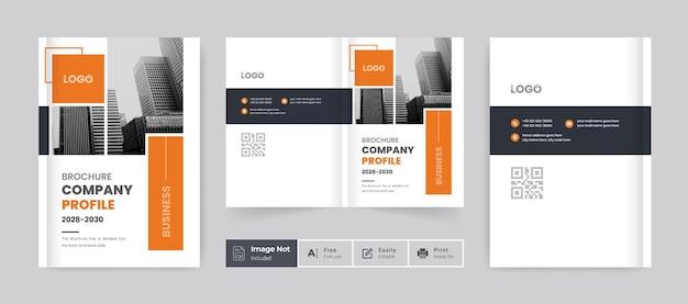 Minimal clean brochure cover template design company profile cover design bifold layout