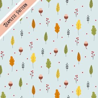最小限の色の葉秋パターン背景