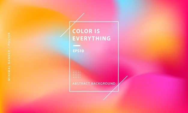 Minimal colorful abstract banner background