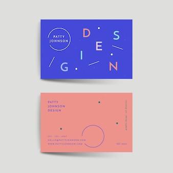 Минимальный красочный шаблон визитной карточки