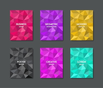 Minimal colorful geometric background cover