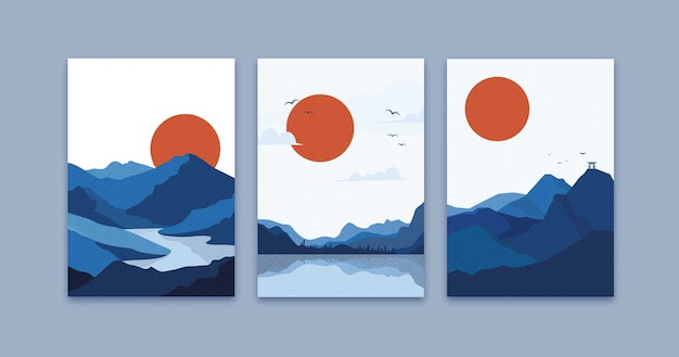 Minimal colorful japanese covers pack