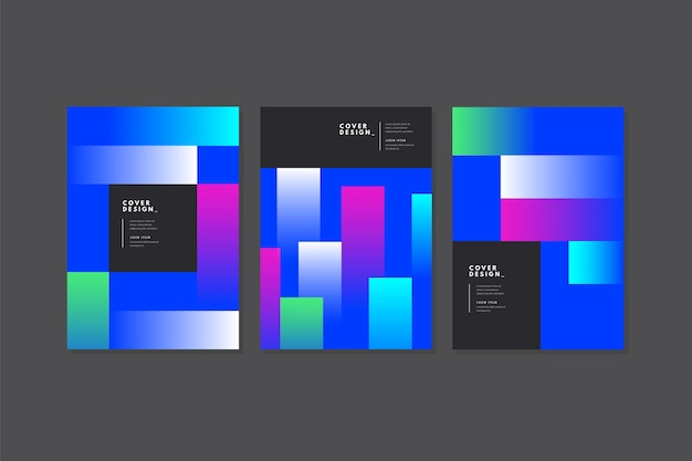 Minimal colourful cover template design
