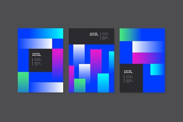 Минимальный красочный дизайн шаблона обложки