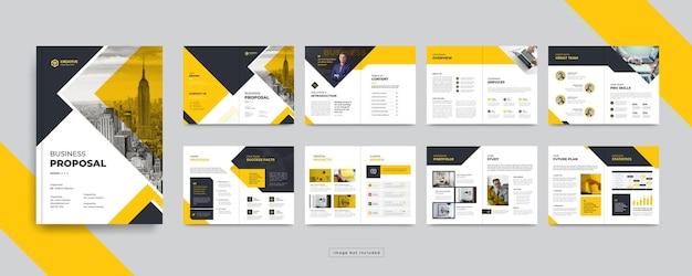 최소한의 회사 프로필 또는 기업 비즈니스 브로셔 디자인 서식 파일