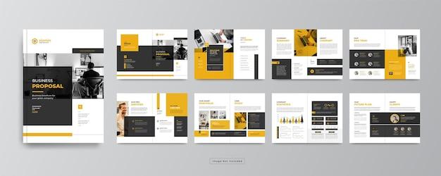 Минимальный профиль компании или шаблон дизайна брошюры корпоративного бизнеса