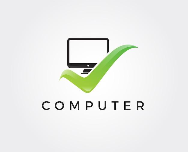 Minimal computer logo design