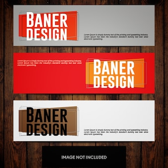 Minimal corporate banner design templates