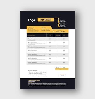 Minimal corporate business invoice template design