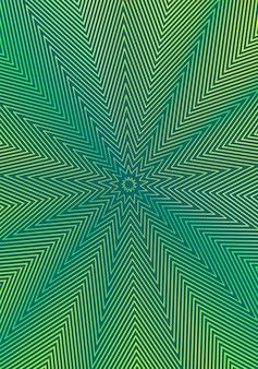 최소한의 표지 디자인 템플릿. 현대 브로셔 레이아웃. 어두운 배경에 녹색 노란색 활기찬 하프 톤 그라디언트.