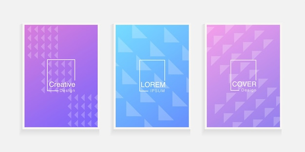 Minimal cover design template modern colorful abstract geometric gradient background