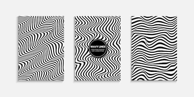 Minimal cover design template with a striped background