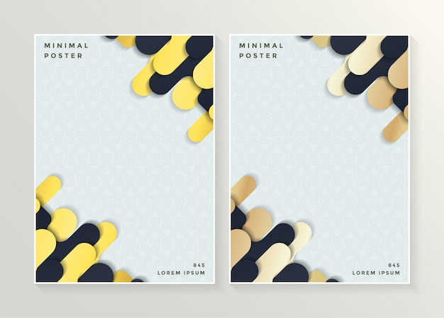 Minimal cover in gold. vector geometric abstract design.