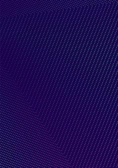 최소한의 표지 템플릿. 현대 브로셔 레이아웃. 진한 파란색 배경에 네온 활기찬 하프 톤 그라디언트. 특별한 유행 추상 표지 디자인.