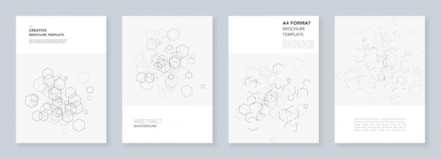 Minimal cover templates with hexagons