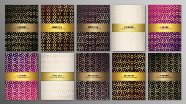 Minimal covers, abstract geometric background with lines. golden texture.