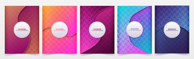 Minimal covers abstract geometric pattern background.