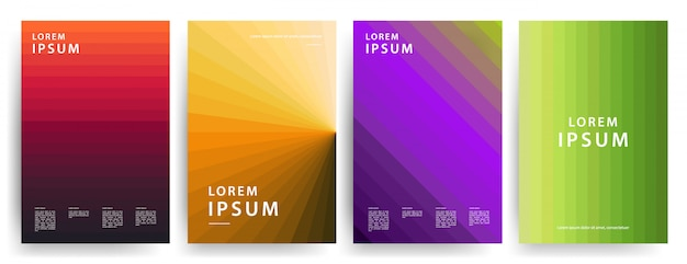 Minimal covers. cool geometric gradients.