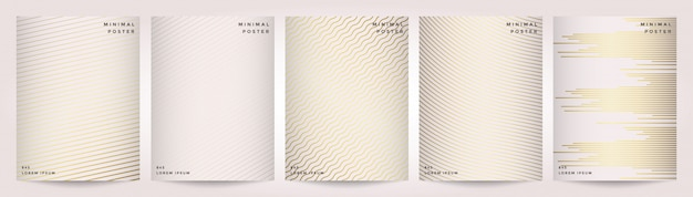 Minimal covers design. abstract geometric background with lines. golden texture.