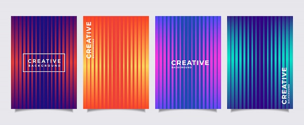 Minimal covers design. background modern design. cool gradients.
