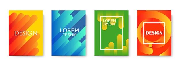 최소한의 커버 디자인. 웹에 대 한 다채로운 그라디언트 배경 디자인
