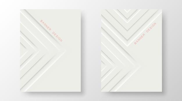 Минималистичный дизайн обложек. геометрические белые градиенты. eps10 вектор.