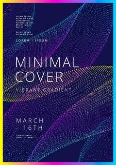 最小限のカバーデザイングラデーションドット形状チラシポスターパンフレットのモダンな背景