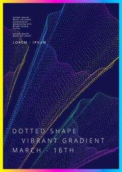 チラシのポスターのためのグラデーションの点線の形のモダンな明るさの背景を持つ最小限のカバーデザイン