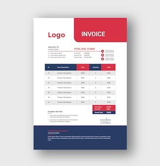 Minimal creative corporate business invoice template