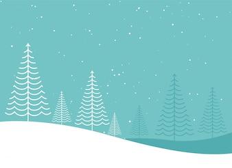 最小クリエイティブな冬のクリスマスツリーlanscapeデザイン