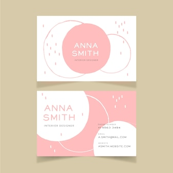 Minimal design business card template