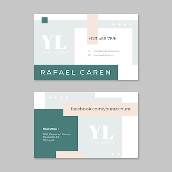 Minimal design for business card