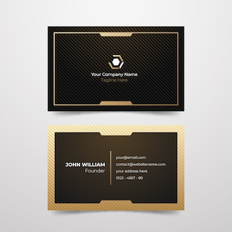 Minimal design company business card