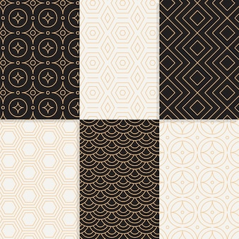Minimal design geometric pattern collection