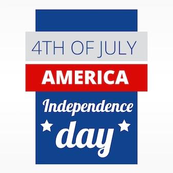 4 luglio di design americano indepence day