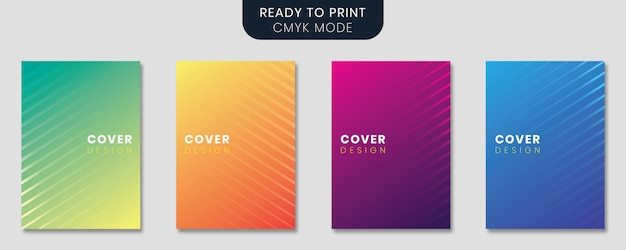 Minimal design set with gradient background and abstract circles
