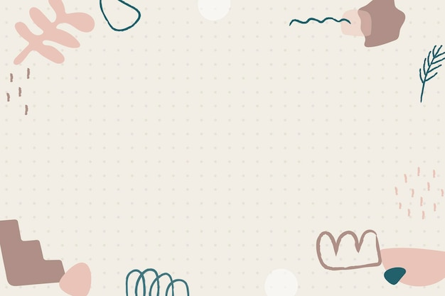Minimal doodle frame background social story highlight Free Vector