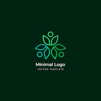Минимальный эко логотип шаблон векторные иллюстрации