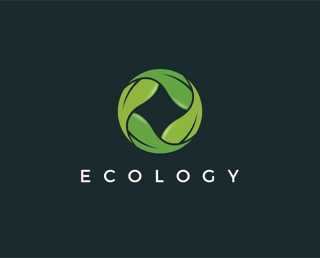 最小限のエコロジーロゴテンプレート