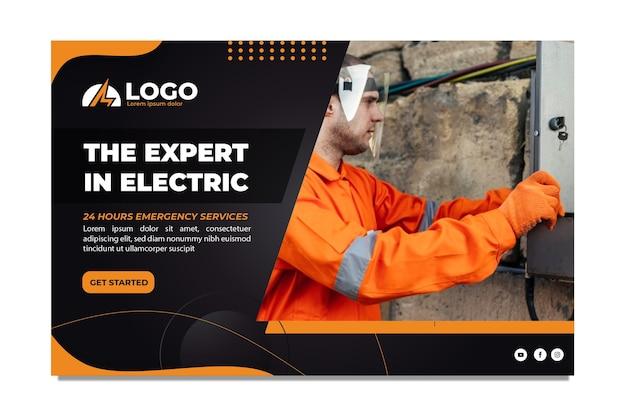 Modello di banner elettricista minimo