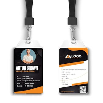 Minimal electrician id card template