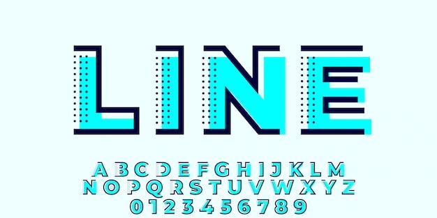 Minimal flat blue font style