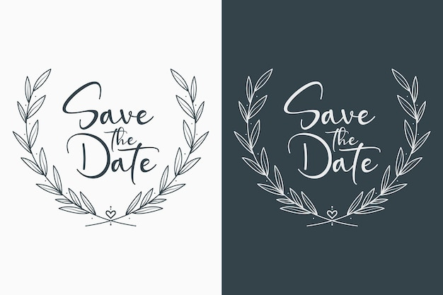 Minimal floral wedding badges