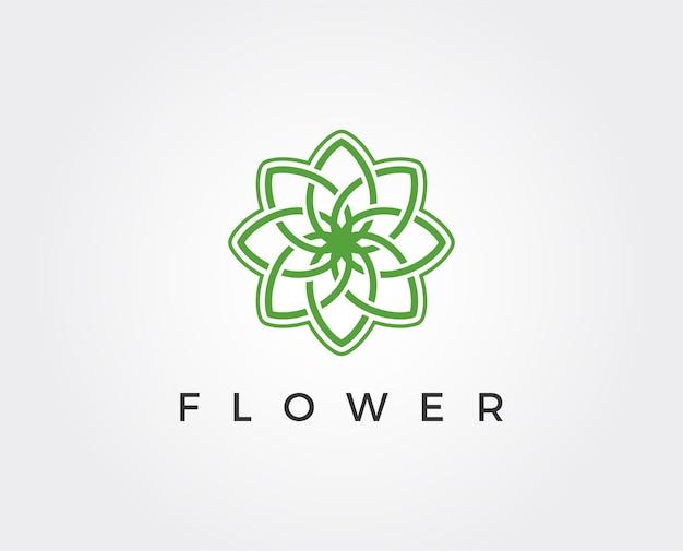 最小限の花のロゴのテンプレート