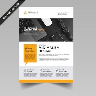 Minimal flyer template